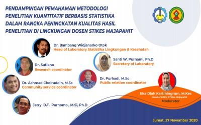 Pendampingan Pemahaman Metodologi Penelitian Kuantitatif Berbasis Statistika Dalam Rangka Peningkatan Kualitas Hasil Penelitian Di Lingkungan Dosen Stikes Mojokerto